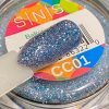 Cor dip glitters azuis